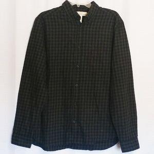 H&M L.O.G.G. Men's Black & Grey Plaid Button DownL